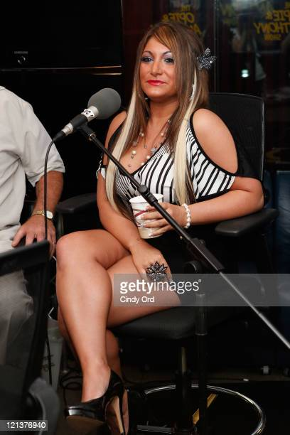 Television personality Deena Cortese visits 'The Opie Anthony Show' at the SiriusXM Studios on August 18 2011 in New York City