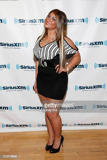 Television personality Deena Cortese visits the SiriusXM Studios on August 18 2011 in New York City
