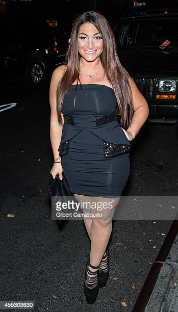 Television personality Deena Nicole Cortese is seen at The Empire Hotel on September 11 2014 in New York City
