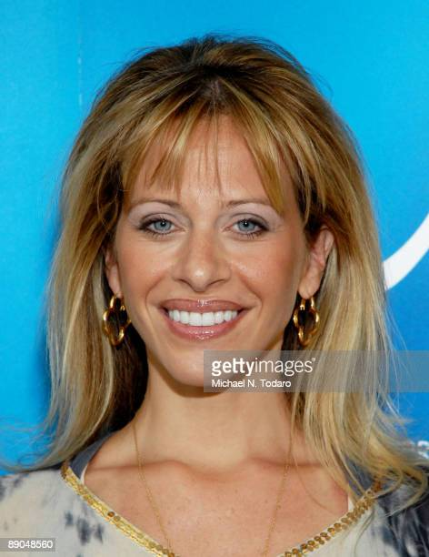 Television personality Dina Manzo visits Cirque du Soleil's Alegria at the Prudential Center July 15 2009 in Newark New Jersey
