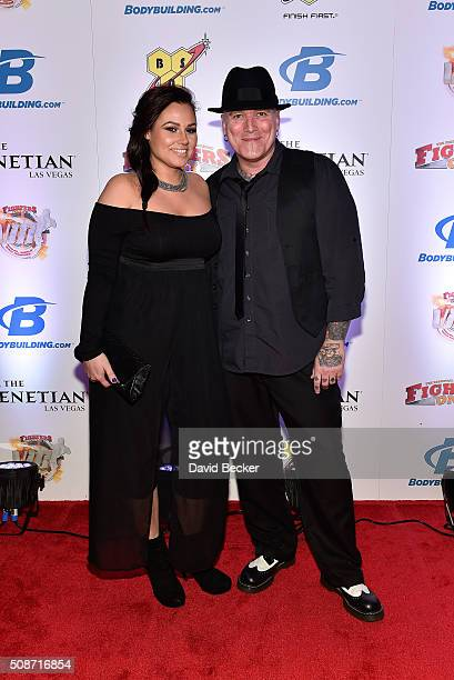 Television personality Dirk Vermin and Erica Johnson arrive at the eighth annual Fighters Only World Mixed Martial Arts Awards at The Palazzo Las...