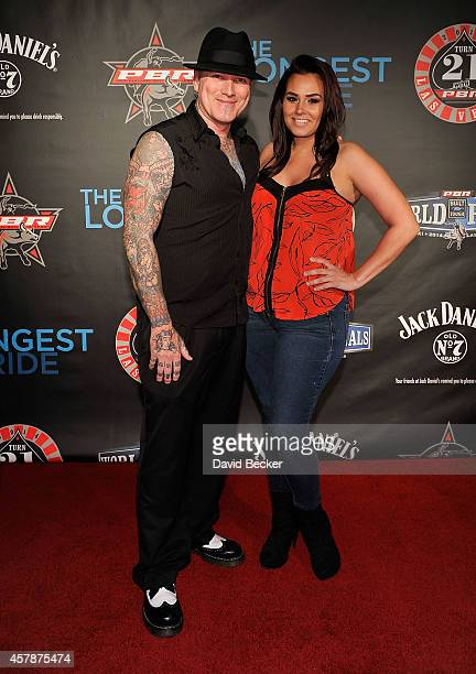 Television personality Dirk Vermin and Erica Johnson attend the Professional Bull Riders Official PBR 21st Birthday Party at the Mandalay Bay Resort...