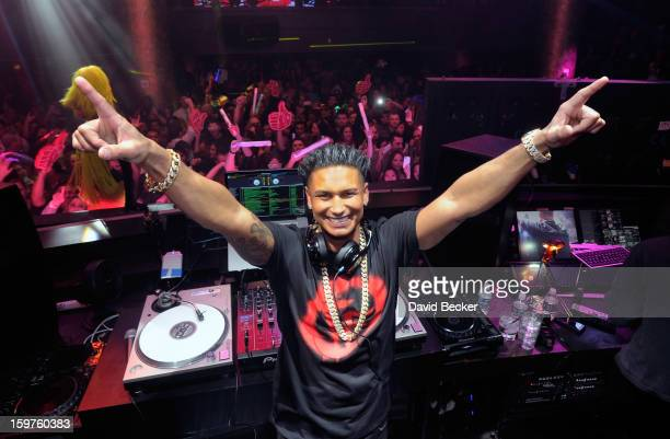 Television personality DJ Paul Pauly D DelVecchio appears at his kickoff of his yearlong residency at Haze Nightclub at the Aria Resort Casino at...