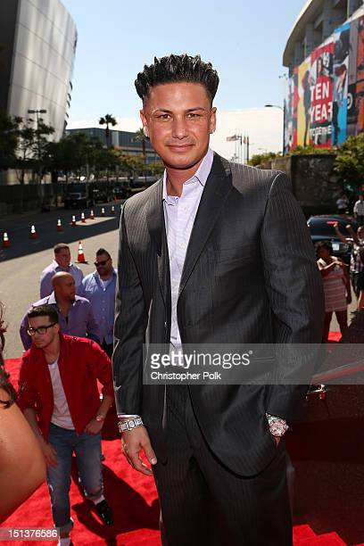 Television personality DJ Paul 'Pauly D' DelVecchio arrives at the 2012 MTV Video Music Awards at Staples Center on September 6 2012 in Los Angeles...