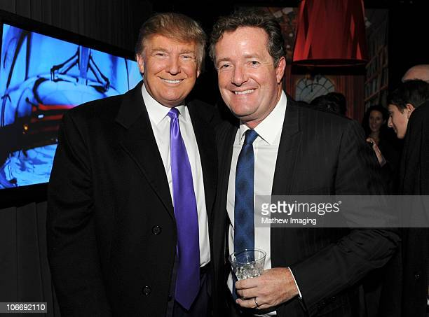 "Television Personality Donald Trump and journalist Piers Morgan attend the celebration of Perfumania and Kim Kardashian�s appearance on NBC�s ""The..."