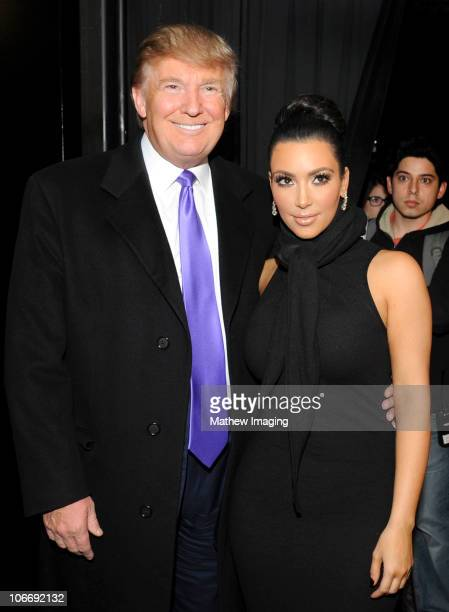 Television Personality Donald Trump and Kim Kardashian attend the celebration of Perfumania and Kim Kardashian�s appearance on NBC�s 'The Apprentice'...