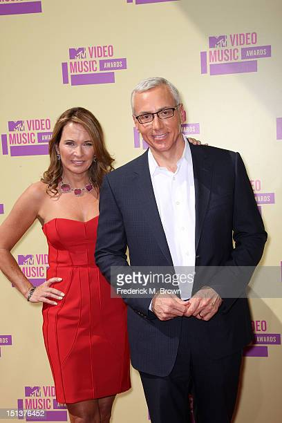Television personality Dr Drew Pinsky and his wife Susan Pinsky arrive at the 2012 MTV Video Music Awards at Staples Center on September 6 2012 in...