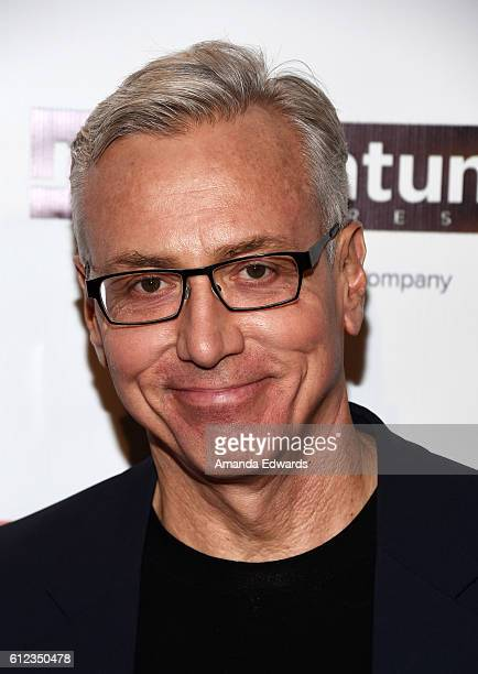 "Television personality Dr. Drew Pinsky arrives at the premiere of Momentum Pictures' ""The Late Bloomer"" at iPic Theaters on October 3, 2016 in Los..."