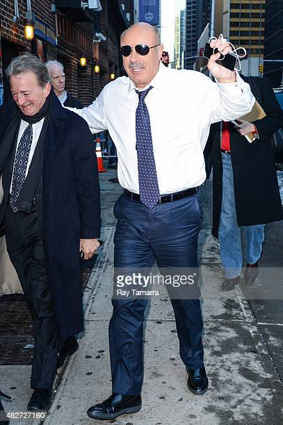 Television personality Dr Phil McGraw enters the 'Late Show With David Letterman' taping at the Ed Sullivan Theater on February 3 2015 in New York...
