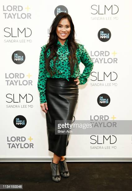 Television personality Dr Sandra Lee known as Dr Pimple Popper celebrates the launch of her book Put Your Best Face Forward at Lord Taylor Garden...