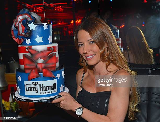 Television personality Drita D'Avanzo appears at the Crazy Horse III Gentlemen's Club at Playground on May 25 2013 in Las Vegas Nevada