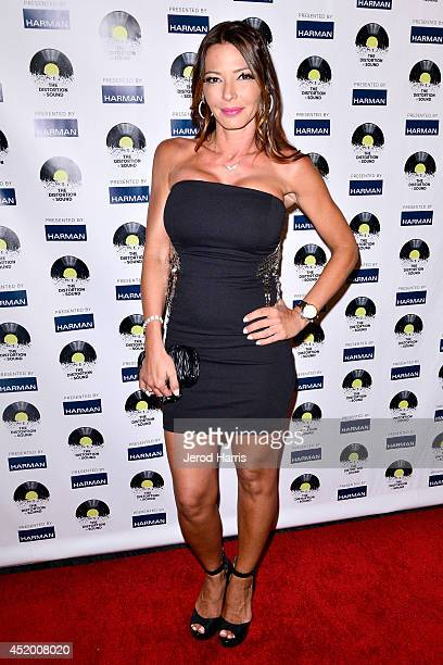 Television personality Drita D'avanzo attends the Los Angeles Premiere of 'The Distortion of Sound' at The GRAMMY Museum on July 10 2014 in Los...