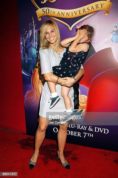 Television personality Elisabeth Hasselbeck and her daughter Grace Hasselbeck attend Disney's Sleeping Beauty 50th Anniversary DVD release at the...