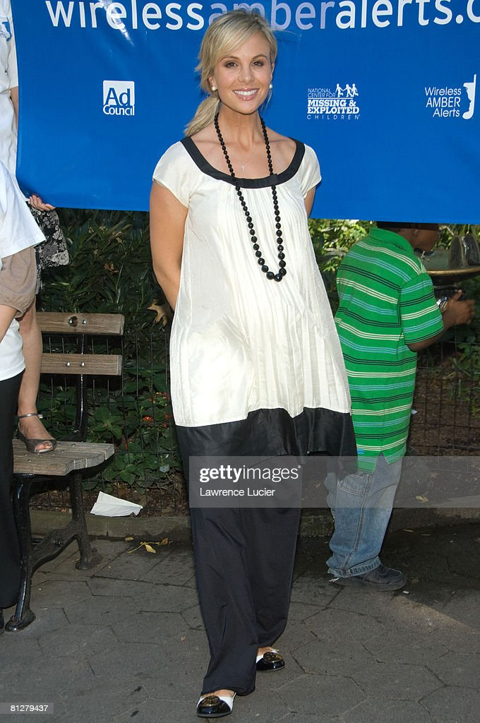 Television personality Elizabeth Hasselbeck speaks at the launch of the Wireless Amber Alerts Campaign September 24, 2007, at Madison Square Park in New York City.