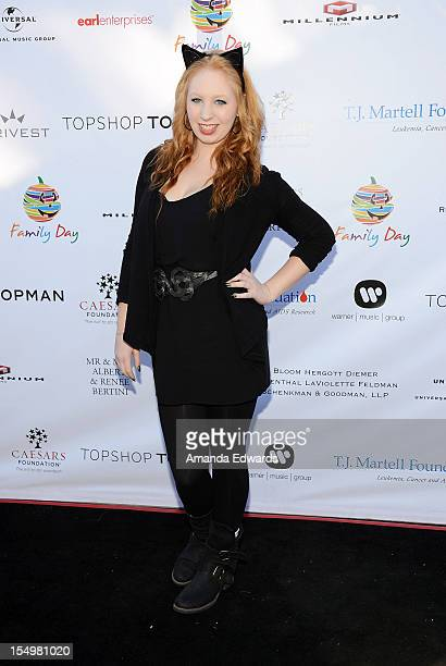 Television personality Elizabeth Stanton arrives at the TJ Martell Foundation 4th Annual Family Day LA at CBS Studios Radford on October 28 2012 in...