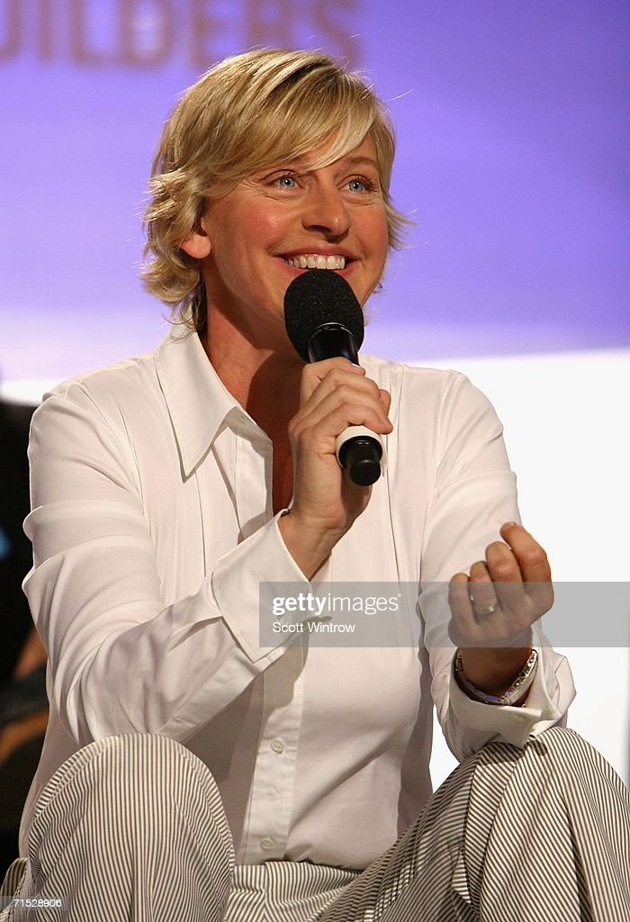 Television personality Ellen Degeneres attends OPEN from American Express' 'Making a Name for Yourself' at Nokia Theater July 27, 2006 in New York City.