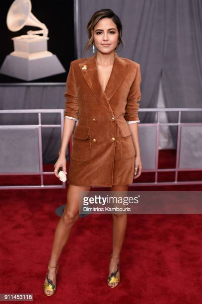 Television personality Erin Lim attends the 60th Annual GRAMMY Awards at Madison Square Garden on January 28 2018 in New York City