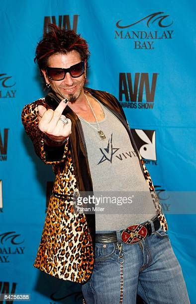 Television personality Evil Dick Donato arrives at the 26th annual Adult Video News Awards Show at the Mandalay Bay Events Center January 10 2009 in...