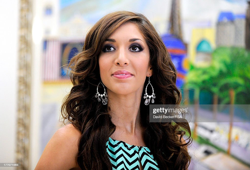 Television personality Farrah Abraham appears at the FOX 5 Las Vegas studio before a television interview on August 20, 2013 in Las Vegas, Nevada.