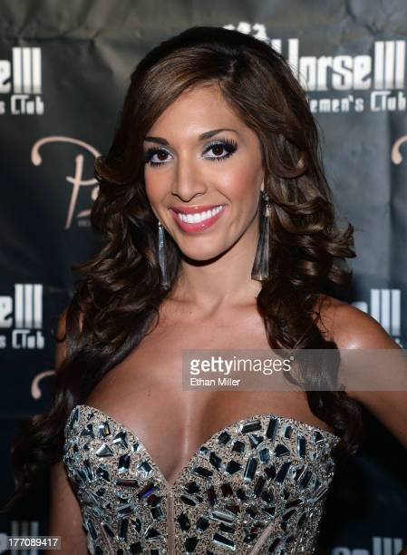 Television personality Farrah Abraham arrives at the Crazy Horse III Gentlemen's Club to host the 2013 Gentlemen's Club EXPO Tradeshow kick off party...