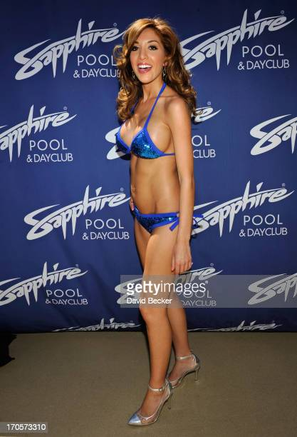 Television personality Farrah Abraham arrives at the Sapphire Pool Day Club on June 14 2013 in Las Vegas Nevada