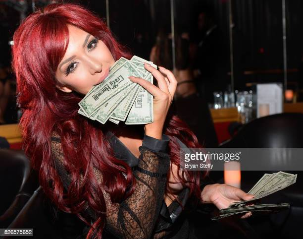 Television personality Farrah Abraham hosts the VIP Back Door Key party at the Crazy Horse III Gentlemen's Club on August 4 2017 in Las Vegas Nevada...