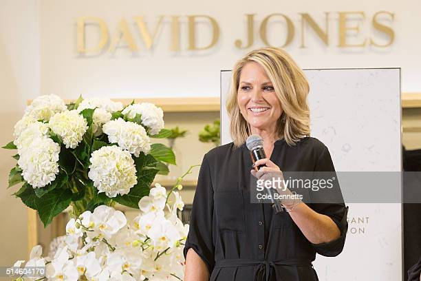 Television personality Georgie Gardner speaks about the new season styles during the David Jones Classic Collection Launch at Sydney's Elizabeth...