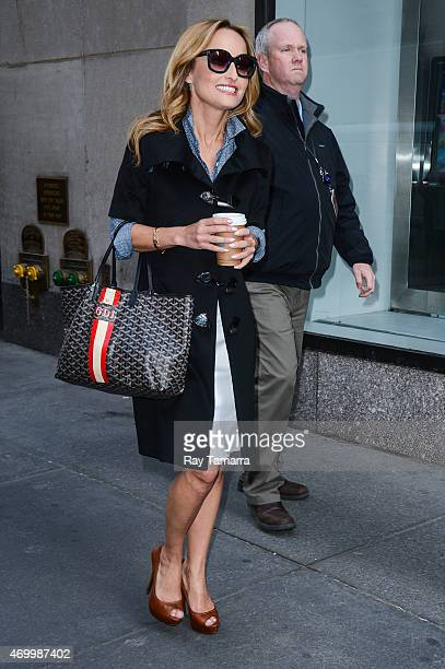 Television personality Giada De Laurentiis leaves the 'Good Morning America' taping at the ABC Times Square Studios on April 16 2015 in New York City