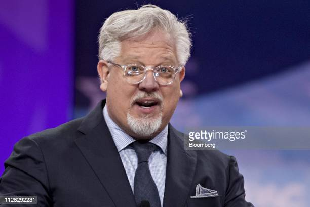 Television personality Glenn Beck speaks during the Conservative Political Action Conference in National Harbor, Maryland, U.S., on Friday, March 1,...