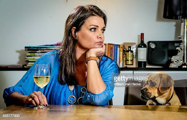 Television personality Goedele Liekens pictured at her house in Dilbeek Belgium