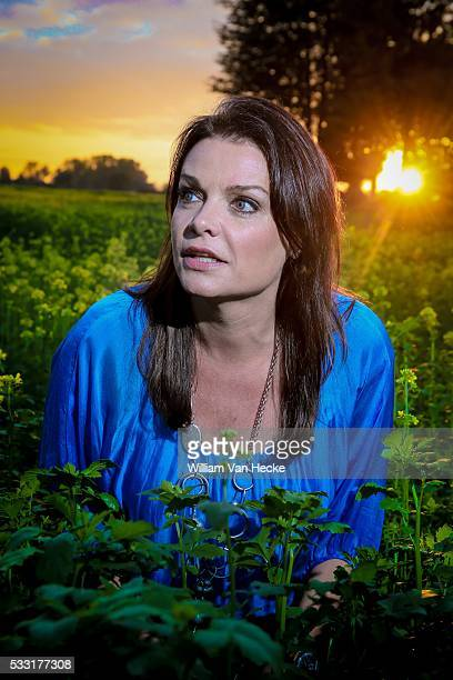 Television personality Goedele Liekens pictured at her house in Dilbeek, Belgium.