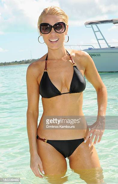 Television personality Gretchen Rossi attends the Island Routes Caribbean Adventures during Day Two of the Sandals Emerald Bay Celebrity Getaway And...