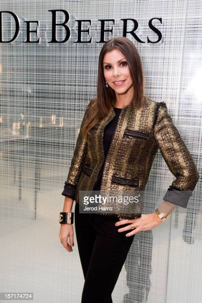 Television personality Heather Dubrow attends De Beers and Vogue with host Elizabeth An celebrate High Jewelery Collection Imaginary Nature at South...