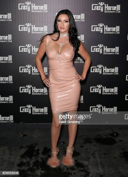 Television personality Heather Marianna arrives at the Crazy Horse III Gentlemen's Club as Farrah Abraham hosts a VIP Back Door Key Party celebrating...