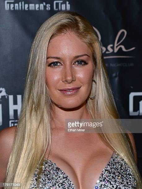 Television personality Heidi Montag arrives at the Crazy Horse III Gentlemen's Club to celebrate Spencer Pratt's 30th birthday on August 31 2013 in...