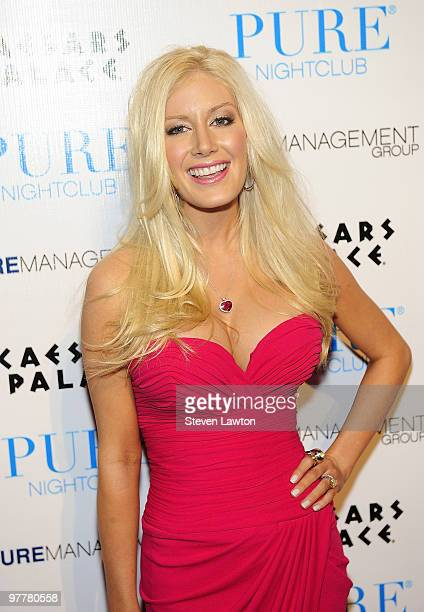 Television personality Heidi Montag arrives to host Valentine's day event at Pure Nightclub on February 13 2010 in Las Vegas Nevada