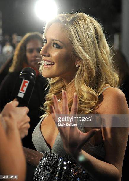 Television personality Heidi Montag shows no ring during an interview at The Hills Season Finale Event held in West Hollywood California on December...