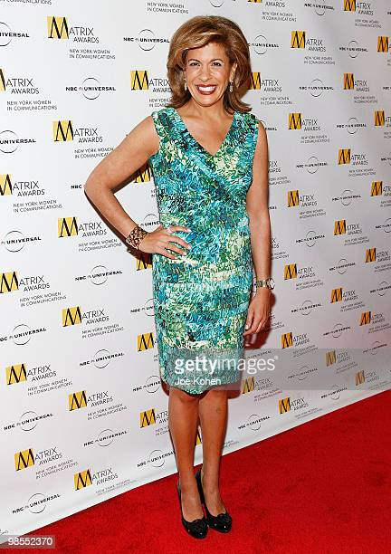 Television personality Hoda Kotb attends the 2010 Matrix Awards presented by New York Women in Communications at The Waldorf=Astoria on April 19 2010...