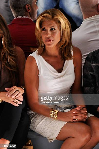 Television personality Hoda Kotb attends the Dennis Basso fashion show during MercedesBenz Fashion Week Spring 2014 at The Stage at Lincoln Center on...