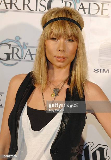 Television Personality Holly Bolton attends the Harris Grade Music Video Release Party at Cinespace on March 26 2009 in Hollywood California