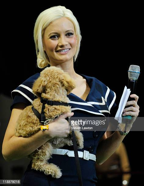 Television personality Holly Madison announces dogs for The Animal Foundation's 8th Annual 'Best in Show' at Orleans Arena on May 1, 2011 in Las...