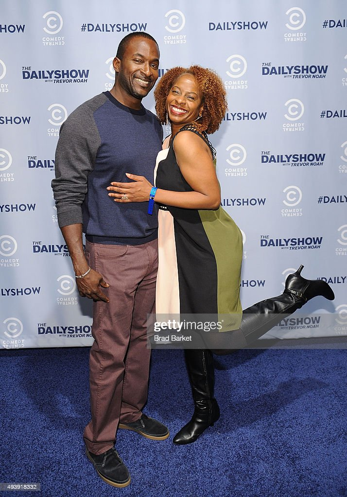 Television personality Holly Walker and Mike Yard attends Comedy Central's The Daily Show With Trevor Noah Premiere Party Event on October 22, 2015 in New York City.