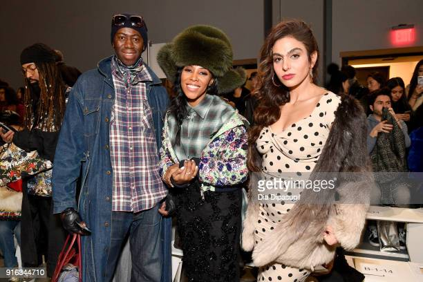 Television personality J Alexander stylist June Ambrose and Shari Loeffler attends the Concept Korea front row during New York Fashion Week The Shows...