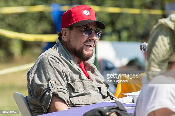 Television Personality James Lipton attends the Hampton Artists vs Writers 67th Annual Softball Game at Herrick Park on August 15 2015 in East...