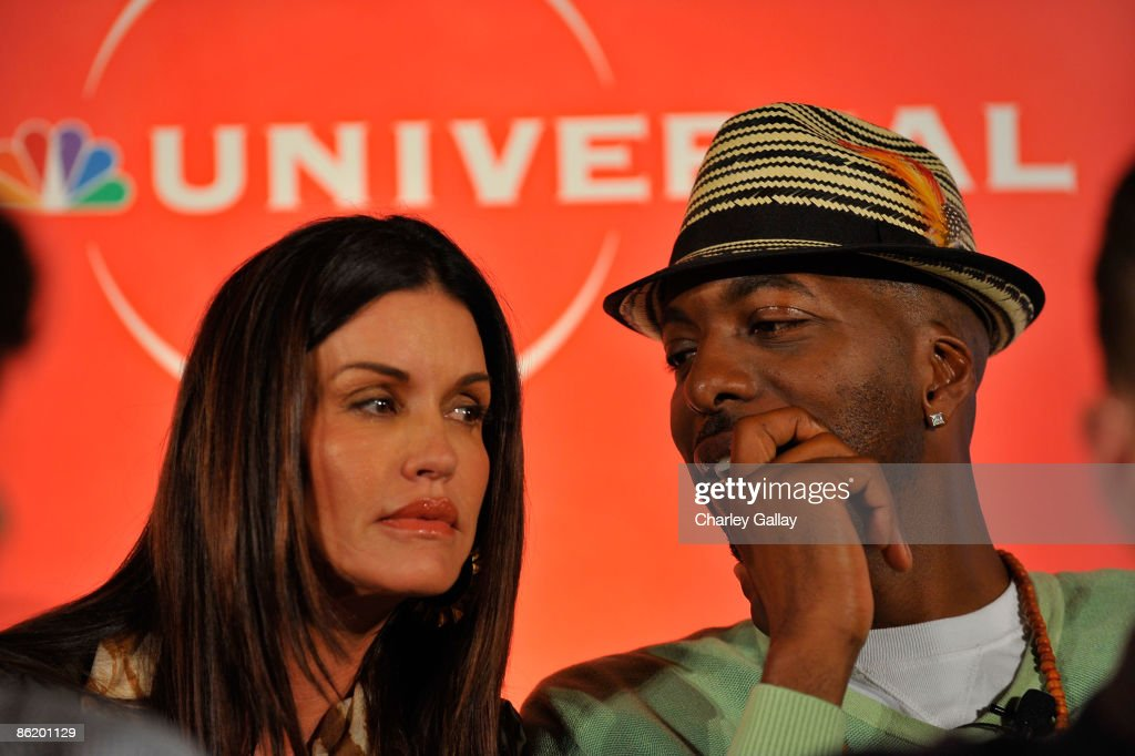 Television personality Janice Dickinson (L) and former NBA player John Salley attend a press conference for 'I'm a Celebrity Get Me Out Of Here!' at the Langham Hotel on April 24, 2009 in Pasadena, California.