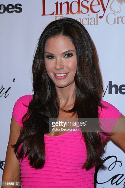 Television personality Jayde Nicole attends the LAFW Grand Finale Event featuring Li Cari Autumn/Winter 2012 at Station Hollywood at W Hollywood...
