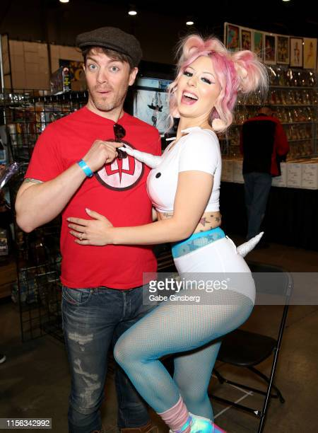 Television personality J.D. Scott and model Annalee Belle attend the Seventh Annual Amazing Las Vegas Comic Con at the Las Vegas Convention Center on...