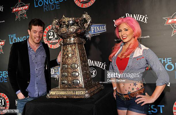 Television personality JD Scott and model Annalee Belle attend the Professional Bull Riders Official PBR 21st Birthday Party at the Mandalay Bay...