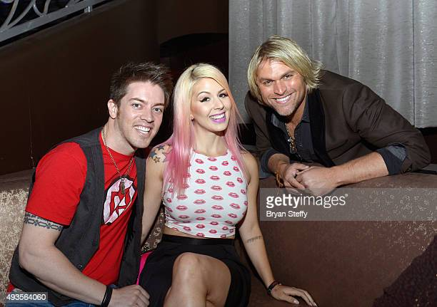 Television personality JD Scott Anna Lee Belle and singer Marcus Collins of The Texas Tenors attend the FANTASY show's 2016 FANTASY After Dark...