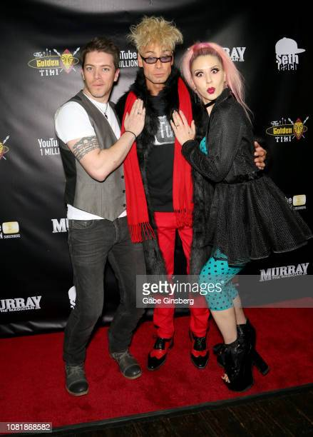 Television personality JD Scott magician/comedian Murray SawChuck and model Annalee Belle attend SawChuck's celebration of 1 Million YouTube...